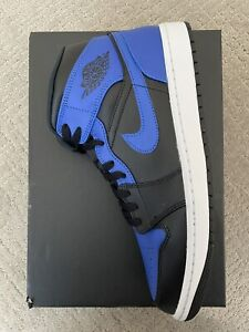 DS New Nike Air Jordan 1 Retro Mid Hyper Royal SIZE 11 554724-077