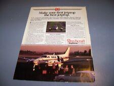 VINTAGE..1985 BEECHCRAFT C90A.. ORIGINAL 1-PAGE SALES AD...RARE! (582T)