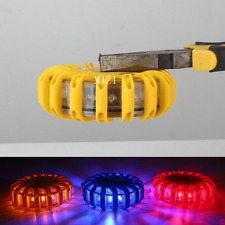 Amber 16LED Light Round Beacon Emergency Lamp Strobe Flash Light Van Truck Yello
