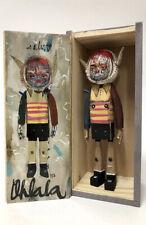 Reen Barrera Ohlala #112 Hand Carved Wood W/ Acrylic Resin & Cloth W/ Custom Box