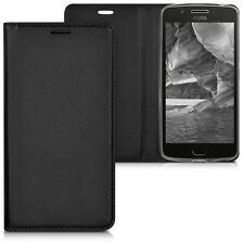 kwmobile Flip Schutz Hülle für Motorola Moto G5 Schwarz Case Tasche Kunstleder