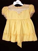 VERY RARE DEADSTOCK 1940'S GIRLS YELLOW  DRESS SIZE 2