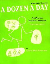 Piano docenas diarias libro 2 elemental Verde práctica Partituras Libro de Burnam Pre