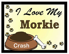 Maltese Yorkie PERSONALIZED I Love My Morkie MAGNET