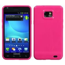 Hot Pink TPU Crystal CANDY Skin Case Cover for AT&T Samsung Galaxy S II 2