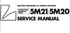 LUXMAN 5M21 5M20 RP ST POWER AMP SERVICE MANUAL INC SCHEMS PRINTED IN ENGLISH