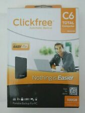 New listing NEW SEALED - Clickfree C6 Automatic Backup External HD Hard Drive (500GB) RED