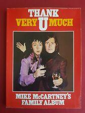 Thank U very much Mike Paul McCartney Family Album book