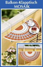 Balkon Klapptisch Mosaiktisch Tisch Mosaik-Optik klappbar Hängetisch Balkontisch