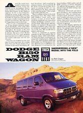 1994 Dodge Ram Wagon Van B150 Original Car Review Print Article J569