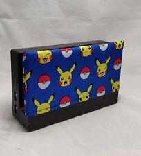 Nintendo Pokemon Switch Dock Cover - Dock Sock- Screen Protector - Blue Pikachu