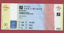 Billete Orig. Juegos Olímpicos Barcelona 1992-Boxeo/26.07. muy RARO!!!