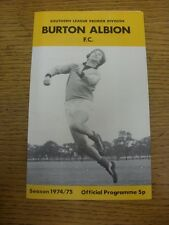 31/03/1975 Burton Albion v Grantham  (team changes). Unless previously listed in