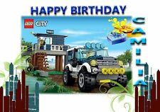 LEGO CITY POLICE   - Personalised Birthday Greeting Card A5 Friend / son / any