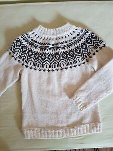 Norweger Pullover Gr 40/41 Handgestrickt Islandpullover NEU 60%Wolle