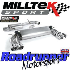 "Milltek Audi S3 8v 3-Door Exhaust 3"" Cat Back Resonated Polish GT100 SSXAU398 EC"