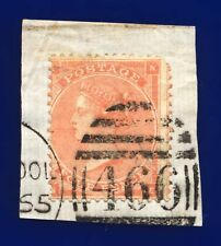 1862 SG82 4d Pale Red (Hair Lines) J53(2) NE Misperf Liverpool GU c.FU £150 ccmy