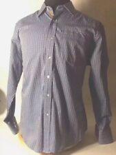 Robert Graham Sparky Flip Cuff (Cars) Button Down Shirt Striped Embroidered XL