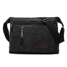 Retro Men's Canvas Shoulder Messenger Bag Crossbody Satchel Travel Man's Bags AU Black