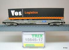 """Minitrix N 15645-17 - Vagone Sdgmss delle NS, semirimorchio """"VOS Logistic"""""""