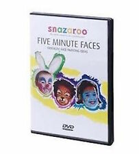 NEW SNAZAROO FIVE MINUTE FACES DVD FACE PAINTING INSTRUCTIONAL STEP BY STEP