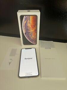 Apple Iphone XS MAX 256G Débloqué Tout opérateur  A2101 comme neuf Doré