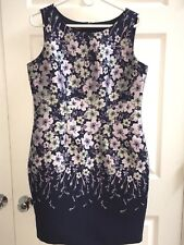 NWT Talbots 12P (Petite) Sleeveless Purple Floral Sheath Dress