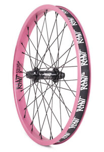 """RANT PARTY ON BMX BIKE 20"""" FRONT WHEEL SHADOW SUBROSA CULT GT KINK HARO PINK NEW"""