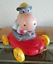 1960s Ideal Toy RARE Peter Potamus VInyl Pull Toy Hanna Barbera