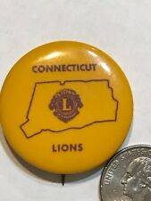 Lions Club INTERNATIONAL Pin button vintage 1960 Connecticut MD23