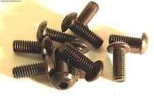 M3 x 18mm 3 x 18 Black Inner Hexagon Socket Button Head Screw x 10 Metal