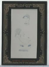 2012 Allen & Ginter Josh Beckett Framed Mini Black Printing Plate RED SOX #1/1
