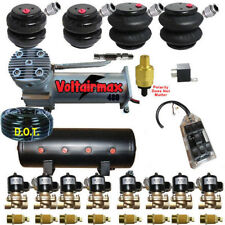 "AirMaxxx 480 Chrome Air Compressors 1/2"" Valves 2500 & 2600 Black 7 Switch Tank"