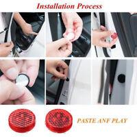 2pcs Universal Wireless Car Door LED Opened Warning Flash Light Anti-collid Red