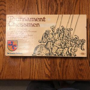 1968 E. S. Lowe Tournament Chessman Staunton Pattern Game - With Box
