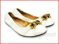 Classic Casual Cute Lady Ballet Flats Comfort White PU Leather Women Shoes New