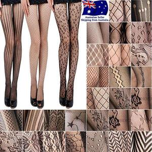 Women's Fashion Jacquard Fishnet Pantyhose Tights Pattern Stockings Waist High
