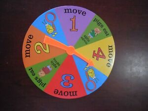 Richard Scarry Eye Found It Board Game Replacement piece part SPINNER board