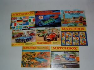 * 1960s MATCHBOX TOY LOT OF ( 8 ) COLLECTOR'S CATALOGUES