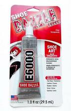 E-6000 SHOE DAZZLE Glue for Shoe Art Permanent Bond Weatherproof Flexible 1.0 oz