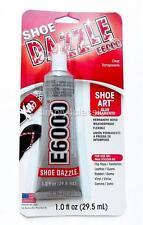 E-6000 SHOE DAZZLE Glue for Shoe Art Permanent Bond Weatherproof Flexible 1.0 oz