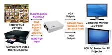 15Khz RGB YUV CGA Video To VGA RGBHV Converter Scaler -1366x768 Pixels