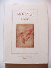 MICHEL-ANGE : POÉSIES ¤ IMPRIMERIE NATIONALE ¤ LA SALAMANDRE ¤ 1993 ¤ EO N°1/450