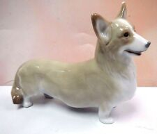 WELSH CORGI PEMBROKE DOG FIGURINE 2008 BY LLADRO PORCELAIN #8339