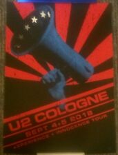 Official U2 Cologne Koln Poster Rare #162/300 2018 Experience + Innocence