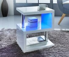 Elegent S-shape Alaska High Gloss Side Table Can be used as end tables & other.