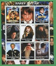 Harry Potter Commemorative Souvenir Stamp Sheet 2002 Congo E36