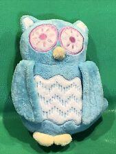 Target Owl Circo Aqua Blue Textured Plush Stuffed Animal Mini Pillow 8�