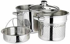 PASTA POT con STEAMER INSERTO-Kitchencraft 4 LITRI