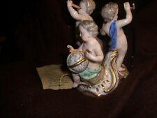 Meissen Cupid Putti  Porcelain Figurine  Allegory Acier Astronomer 18th century